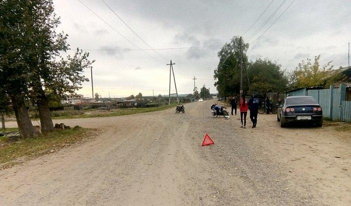 Два мотоциклиста пострадали вДТП вЧунском районе