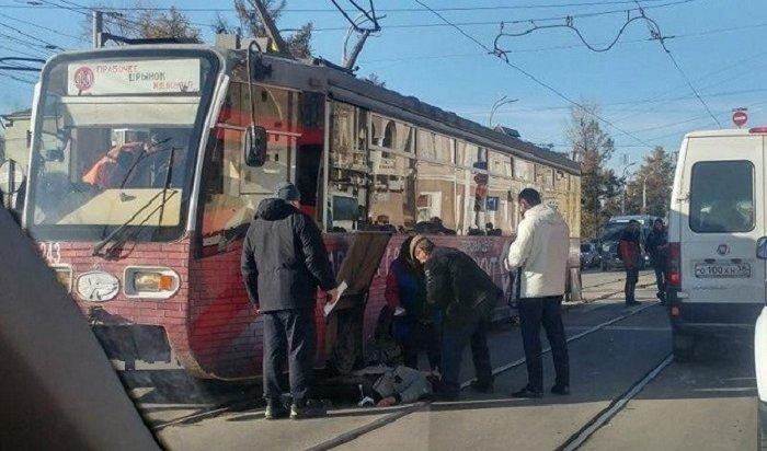 Трамвай сбил женщину вцентре Иркутска (Видео)