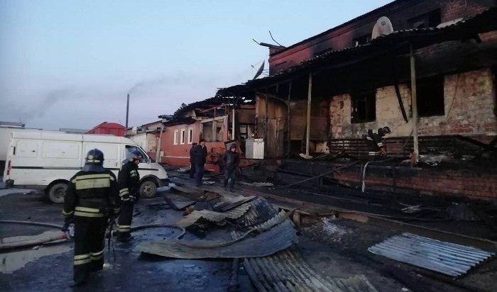 Кафе «Кыргызстан» сгорело вИркутске утром 25октября (Фото)