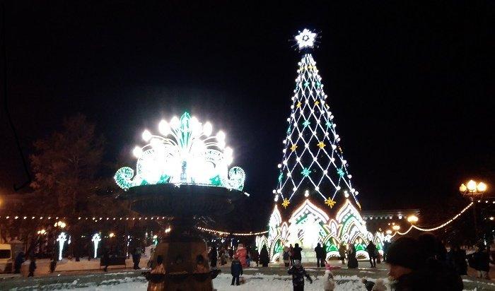Главную елку начнут устанавливать вИркутске всередине ноября