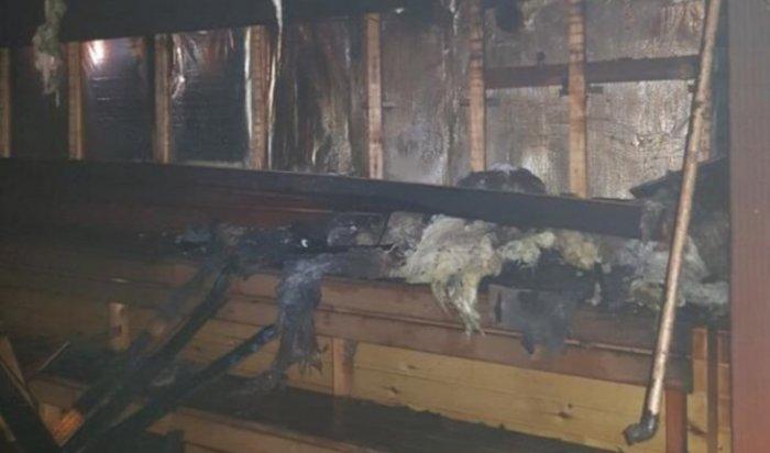 Пожар произошел вэко-комплексе «Георгиевские бани» под Иркутском