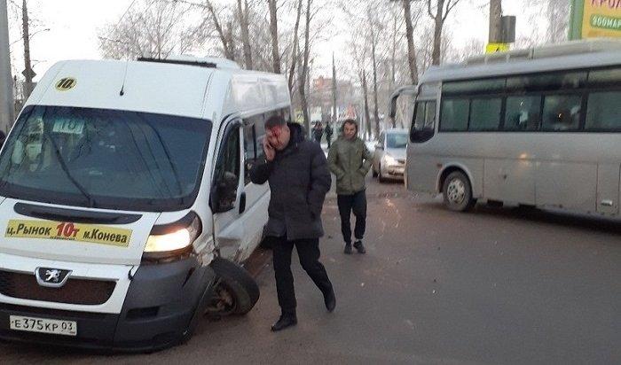 Два ДТП сучастием общественного транспорта случились вИркутске утром 27ноября