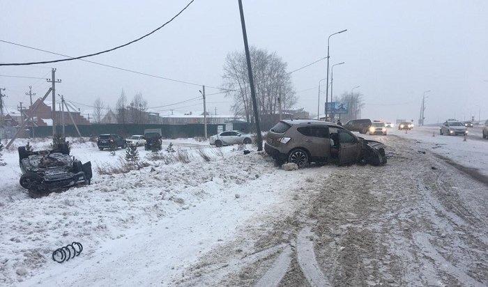 Два человека пострадали вДТП сMercedes-Benz ML400под Иркутском