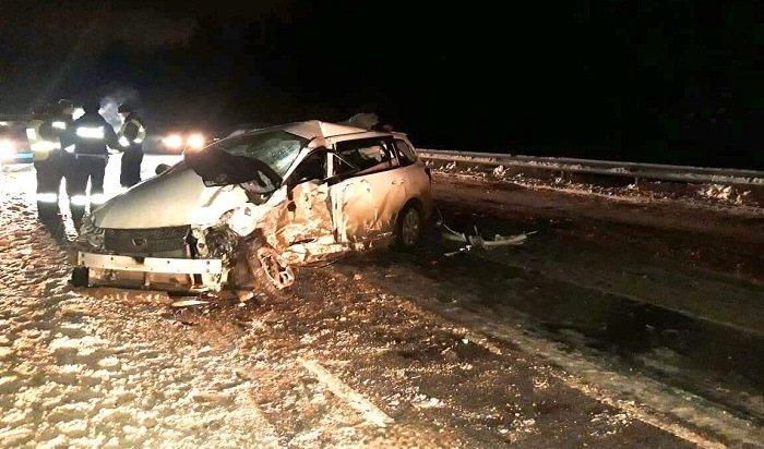 Водитель автомобиля Toyota Fielder погиб вДТП наобъездной дороге «Иркутск-Шелехов»