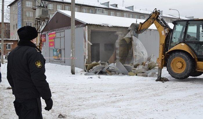 Нелегальный рынок сносят вНово-Ленино (Видео)