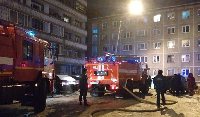 Бывшее общежитие горело вИркутске вечером 7января