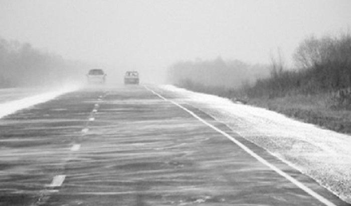 Движение транспорта временно ограничили из-за снегопада внекоторых районах Приангарья (СНЯЛИ)