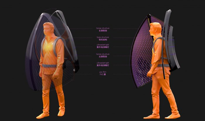 Китайский дизайнер придумал «костюм индивидуальной защиты откоронавируса»