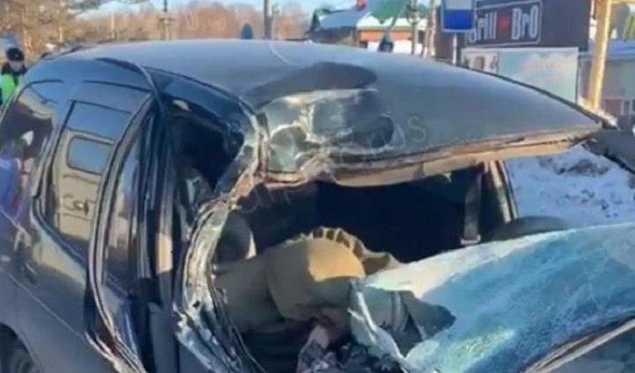 Четыре человека пострадали вДТП под Иркутском (Видео)