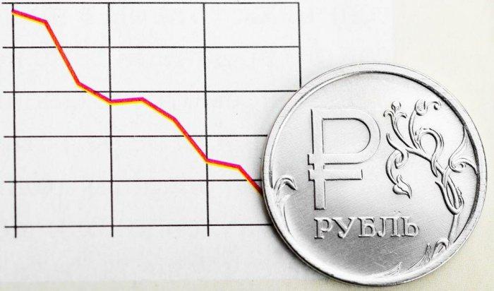 Курс рубля упал