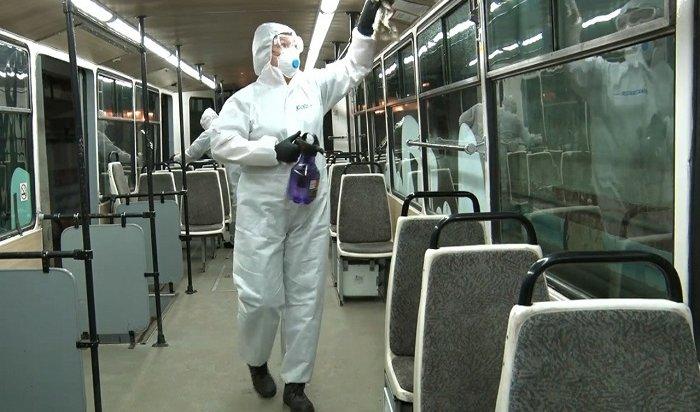 Иркутские трамваи ежедневно дезинфицируют специальными растворами