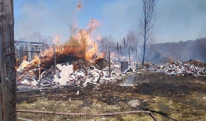 Жительница Нижнеудинского района, сжигая мусор, устроила крупный пожар впоселке