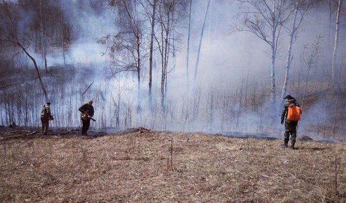 16лесных пожаров ликвидировали вИркутской области 26апреля (Видео)