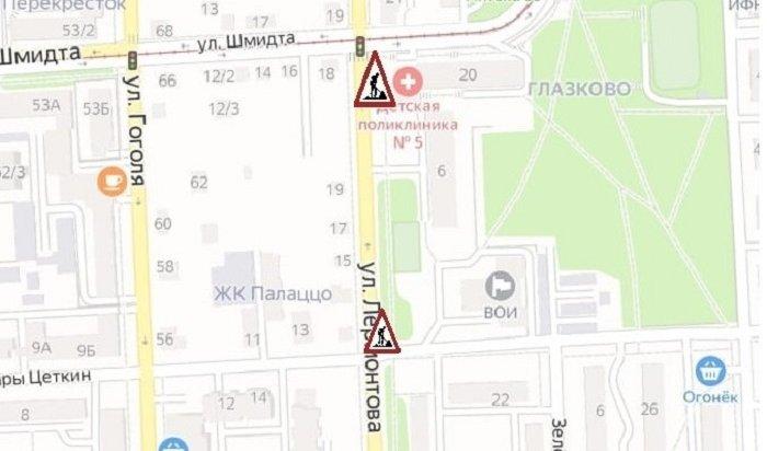 ВИркутске ограничили проезд поулице Лермонтова из-за аварийной ситуации натеплосетях