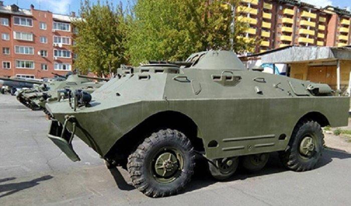 Тяжелую военную технику доставили виркутский центр «Патриот»