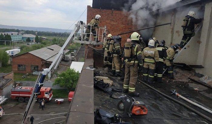 Пожар вцехе хлебозавода произошел вИркутске