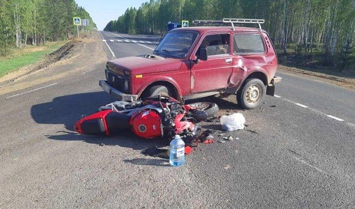 Один мотоциклист погиб ишесть пострадали вПриангарье напрошлой неделе