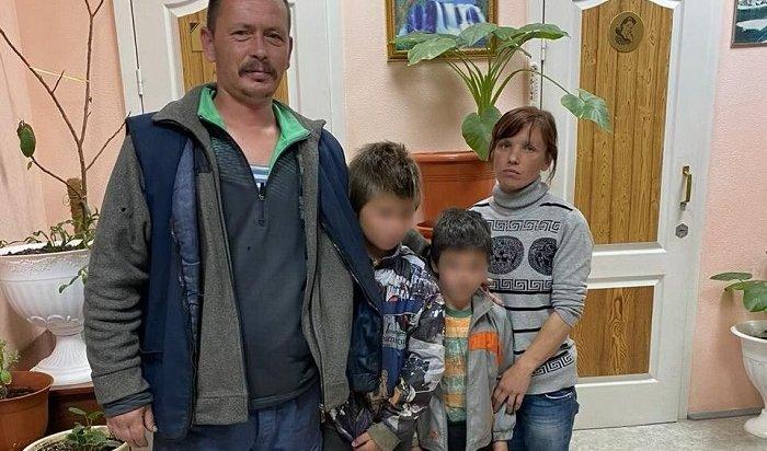 Двух детей искали всю ночь вБратском районе