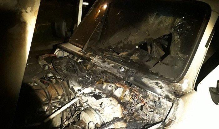 Иркутянин погиб вовремя пожара вавтомобиле