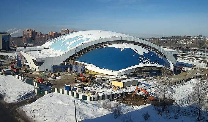 Новый ледовый дворец «Байкал» вИркутске введут вэксплуатацию вавгусте