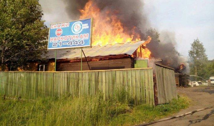 Религиозный центр «Завет» горел вУсть-Илимске