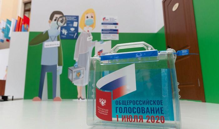 Жители Приангарья проголосовали запоправки кКонституции РФ