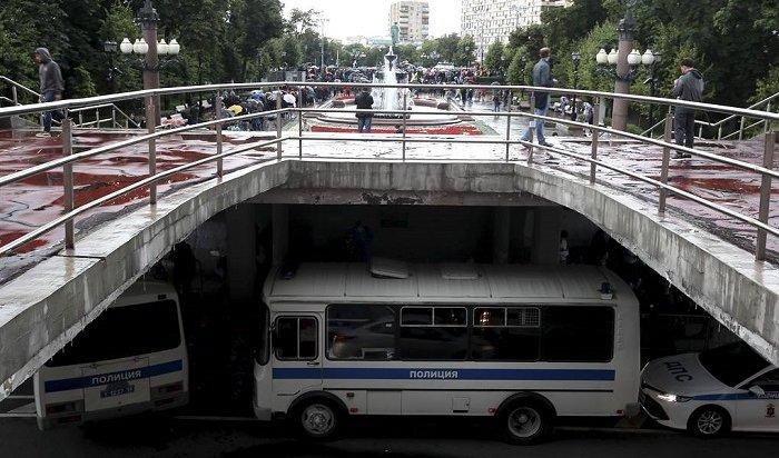 ВМоскве после несогласованной акции задержали более 130человек