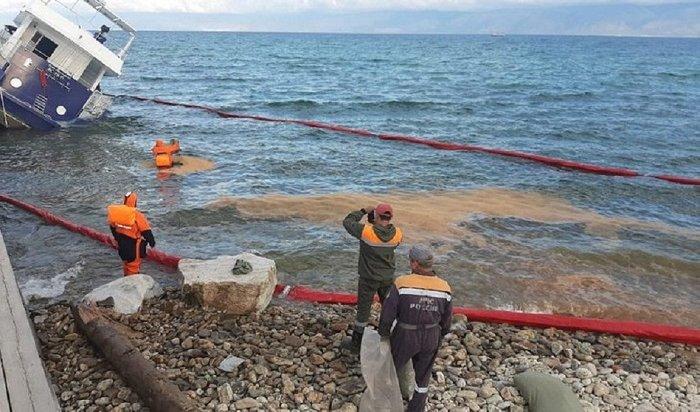 Нефтяное пятно устраняют наБайкале (Видео)
