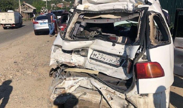 Бетономешалка столкнулась сшестью автомобилями впредместье Радищева (Видео)