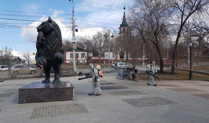 Дезинфекцию общественных территорий снова проведут вИркутске