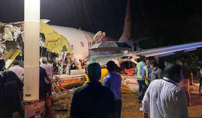 20человек погибли при жесткой посадке самолета вИндии (Видео)