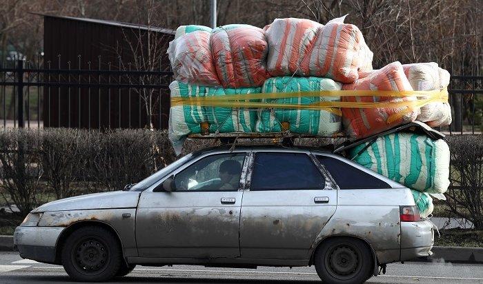 ГИБДД начали штрафовать водителей забагаж накрыше автомобиля