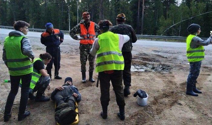 ВШелеховском районе нашли мужчину, который заблудился влесу