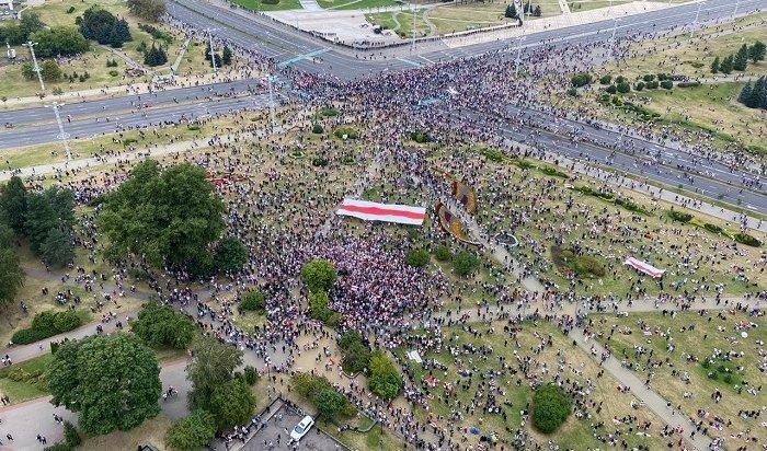 Главный митинг оппозиции: 15день протестов вБеларуси (Видео)