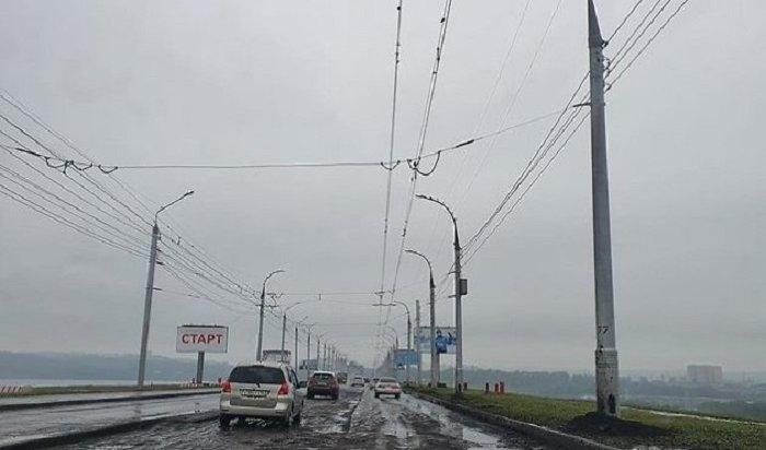 Втечениедвух недель отремонтируют дорогу через плотину ГЭС вИркутске