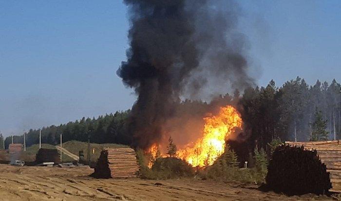 Сегодня утром произошел пожар нагазопроводе вУсольском районе