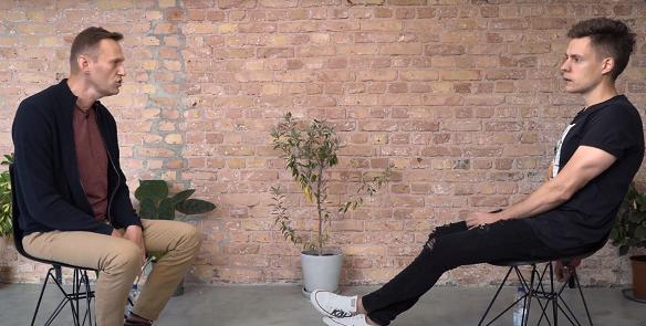 Юрий Дудь опубликовал интервью с Алексеем Навальным