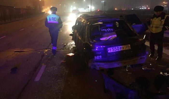 ВИркутске водитель-лихач попал вДТП, пытаясь уйти отполиции