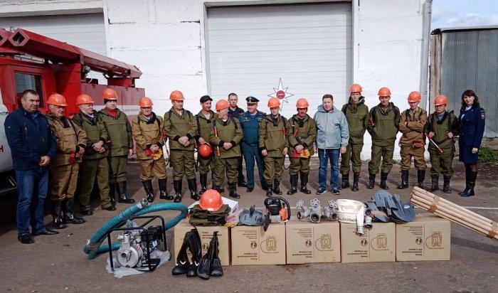 ВТулунском районе создан отряд пожарных-добровольцев