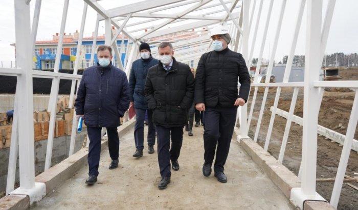 Строительство школы на1275учеников впосёлке Маркова планируется завершить вдекабре
