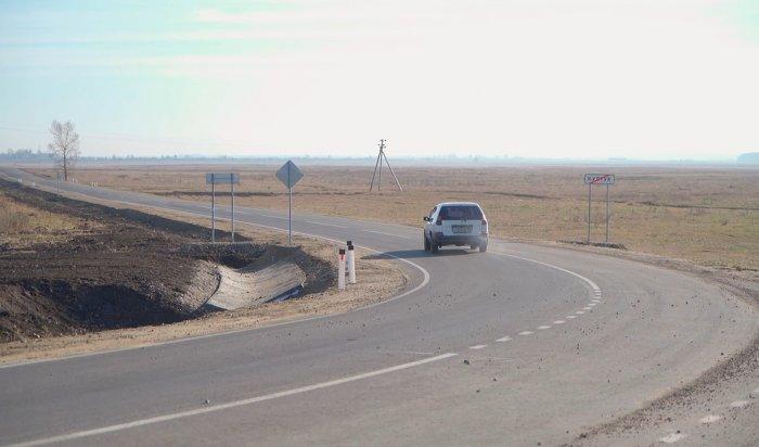 ВУсольском районе заасфальтировали дорогу «Большежилкино-Култук»