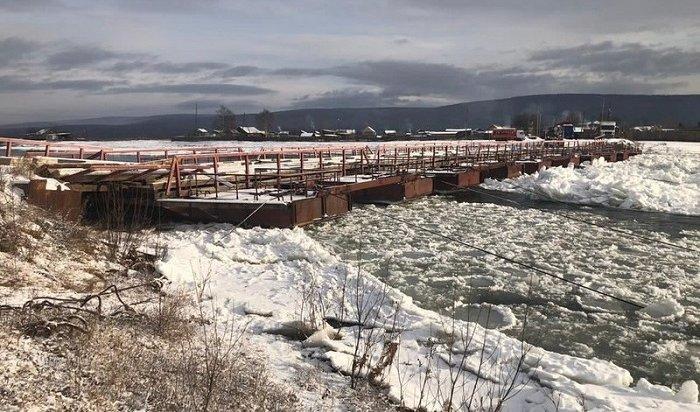 ВЖигаловском районе мост через Лену закрыли из-за аварийного состояния