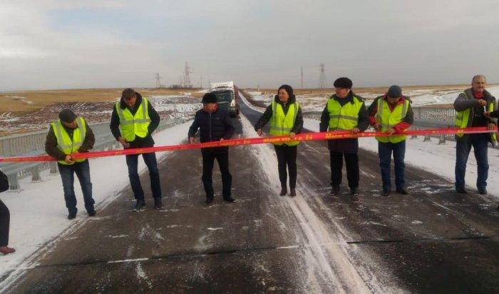 ВИркутской области связывающий пять районов мост через реку Ейоткрыли после ремонта