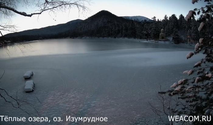 Рассвет наТеплых озерах (Видео)