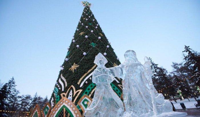 ВИркутске начали устанавливать главную городскую ёлку