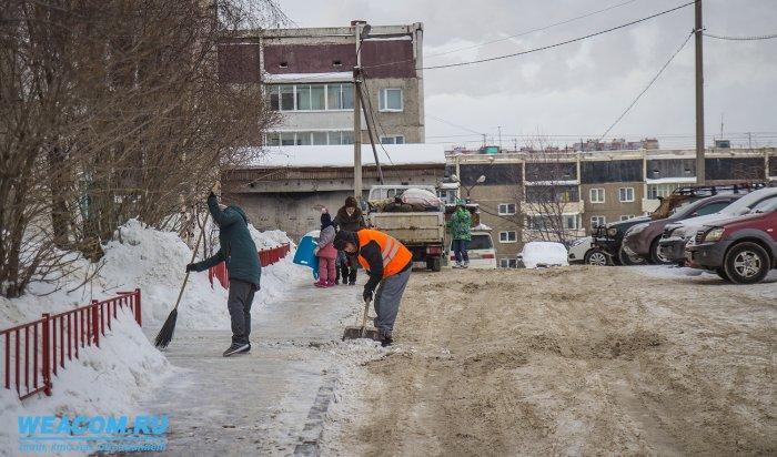 За минувшие сутки  улицы Иркутска обработали 1250 тоннами песко-соляной смеси