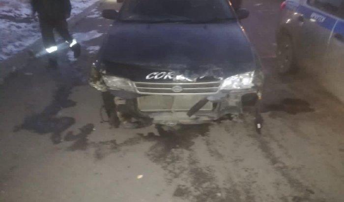 Сотрудники ГИБДД установили личность водителя, повредившего ограждение рядом с«Бабром» вИркутске