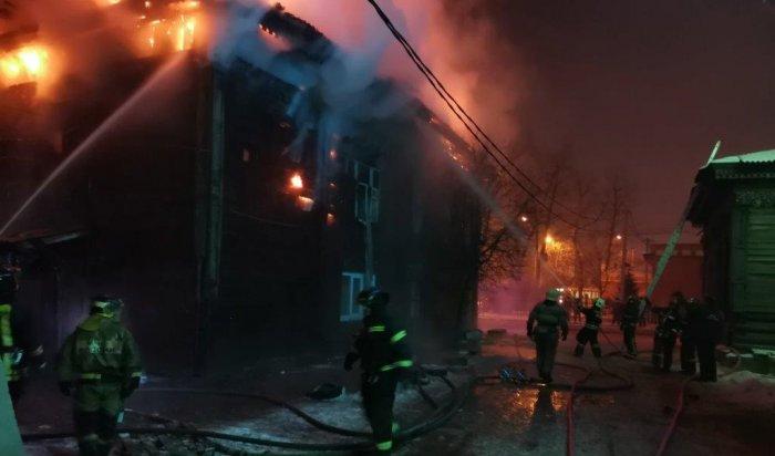 Причиной пожара наулице Свердлова вИркутске был поджог