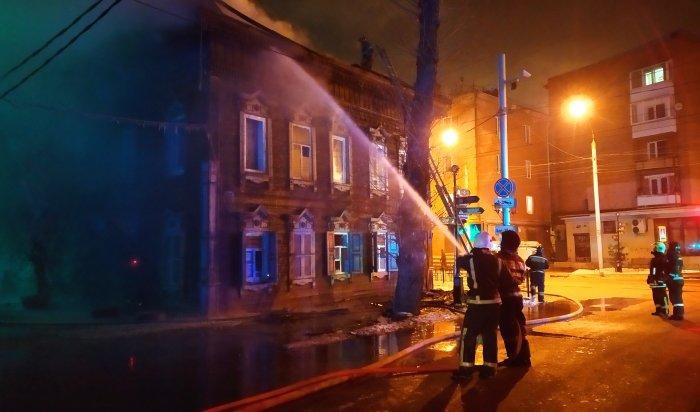 Журналист WEACOM.RU побывал наместе вчерашнего пожара наулице Свердлова вИркутске (Видео+фото)