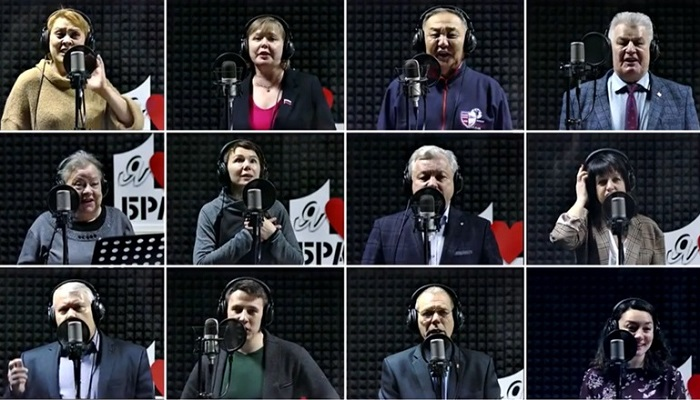 Известные жители города Братска записали песню «Главное, ребята, сердцем нестареть»